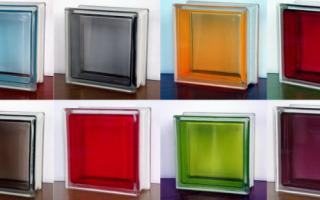 Строительные блоки из стекла для внутренних перегородок