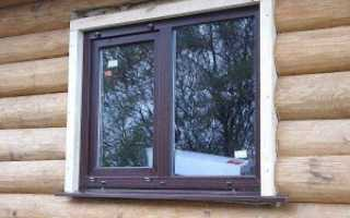 Окосячка окон в деревянном доме