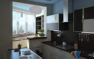 Дизайн кухни с балконом: нюансы и принципы