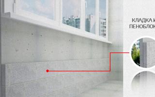 Кладка на балконе из пеноблоков: материалы и этапы работ