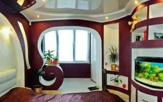 Дизайн спальни с балконом и лоджией поэтапно