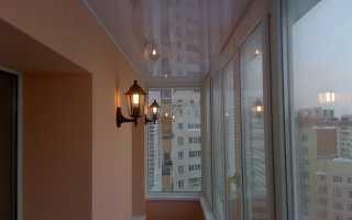 Натяжной потолок на балконе и лоджии: виды и преимущества