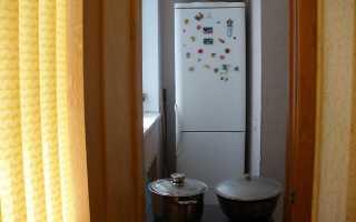 Холодильник на балконе зимой и летом: требования