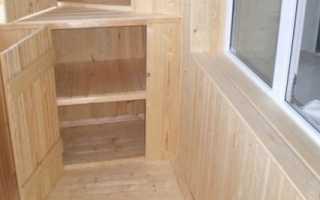 Угловой шкаф на балкон своими руками: инструкция
