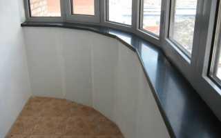 Установка подоконника на балконе: выбор материала