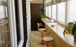 Дизайн узкой лоджии и балкона: решаем проблему пространства