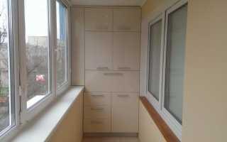 Шкаф на балкон или лоджию: материал и место