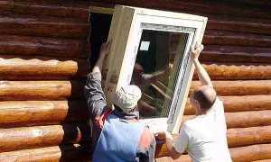 Установка пластиковых окон со стеклопакетом в деревянном доме своими руками