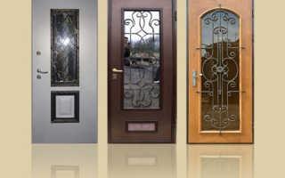Металлические входные двери со стеклопакетом, плюсы и недостатки