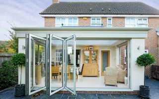 Использование раздвижных дверей на террасу в частном доме