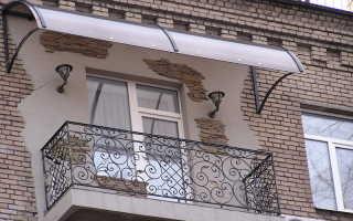 Козырек на балкон: установка и шумоизоляция