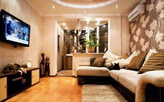 Дизайн гостиной с балконом: цвет и свет