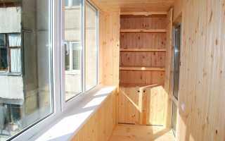 Шкаф на балкон своими руками: этапы работ