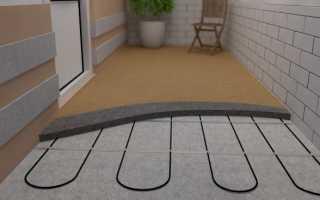 Теплый пол на балконе: виды обогрева