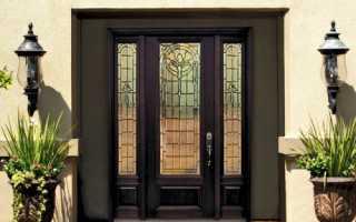 Выбираем надежную и красивую входную дверь из стекла