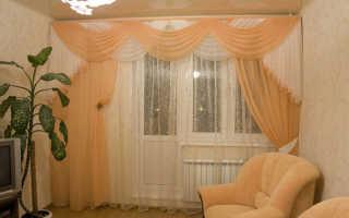 Шторы на окно с балконной дверью: богатство выбора