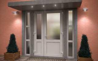 Как выбрать готовые пластиковые двери со стеклом