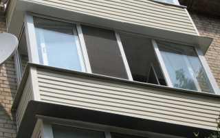 Наружная отделка балкона профнастилом: этапы работ