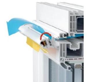 Новые окна и вентиляция: приточный клапан.