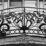 Кованный балкон в стиле руского модерна