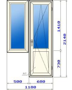 Балконный блок в домах 121 серии