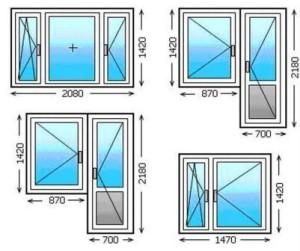 Размеры стандартных пластиковых окон