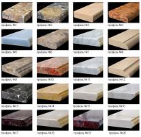 Примеры фактур подоконников из камня