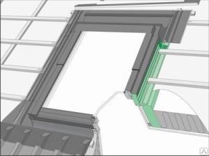 При монтаже мансардного окна рекомендуется планировать откос