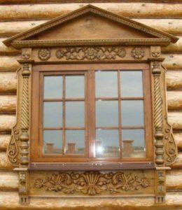 Наличники для окон деревянного дома