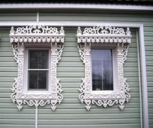 Резные пластиковые наличники на окна