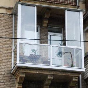 Французское остекление на балкон