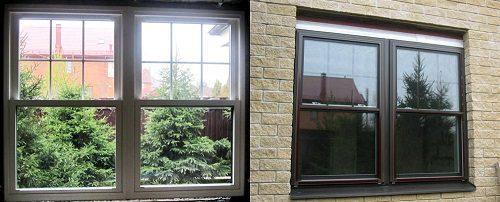 Английские окна вертикально