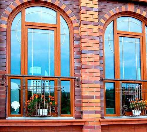 Арочные деревянные окна