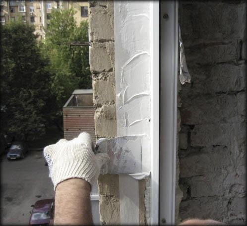 Заделка пены после установки пластиковых окон