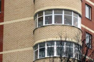 Остекление жилого дома в Москвоской области профилем Krauss