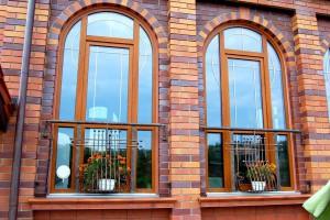 Арочные окна на основе профиля Brugmann