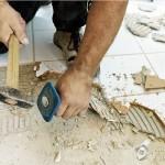 Как удалить плитку с пола