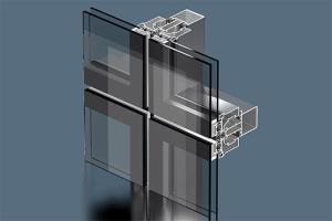 Структурная система фасадного остекления