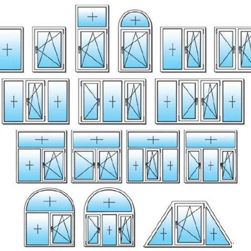 Стандартное трехстворчатое окно, размеры