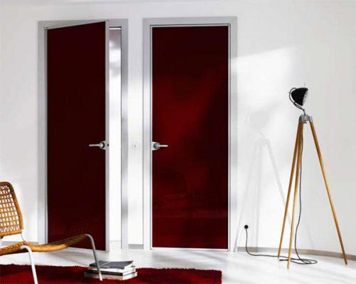 межкомнатные двери из алюминиевого профиля фото