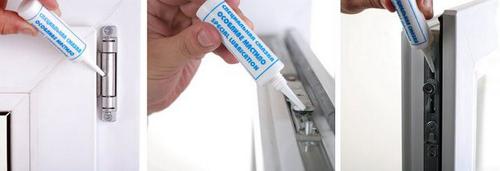 Как смазывать пластиковые окна
