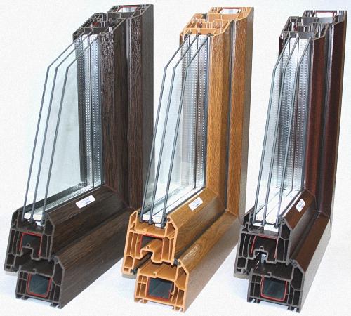 Пластиковые окна, цветной профиль