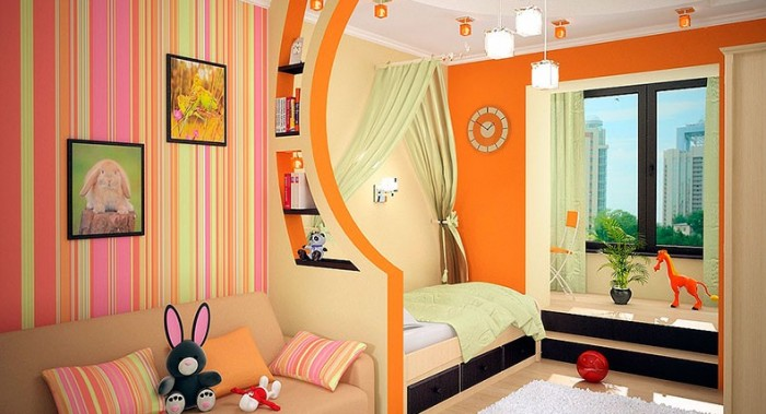 Дизайн детской совмещенной с балконом.