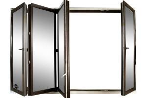 Складывающиеся окна и двери с фурнитурой GU