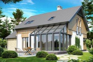 Простейший вариант проекта дома с зимним садом
