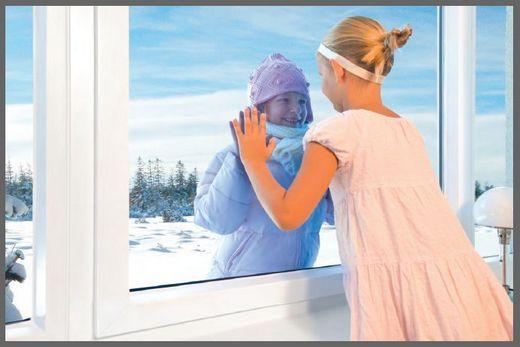 На улице холодно, а дома за качественным окном тепло