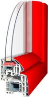 Aluplast -  самый насыщенный красный цвет