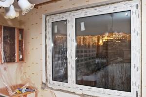 Установка окна с профилем LGC