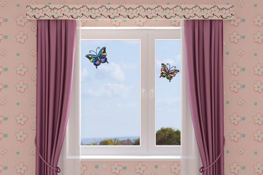 ПВХ-окно с витражом