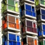 Окна дизайнерские с цветными стеклами